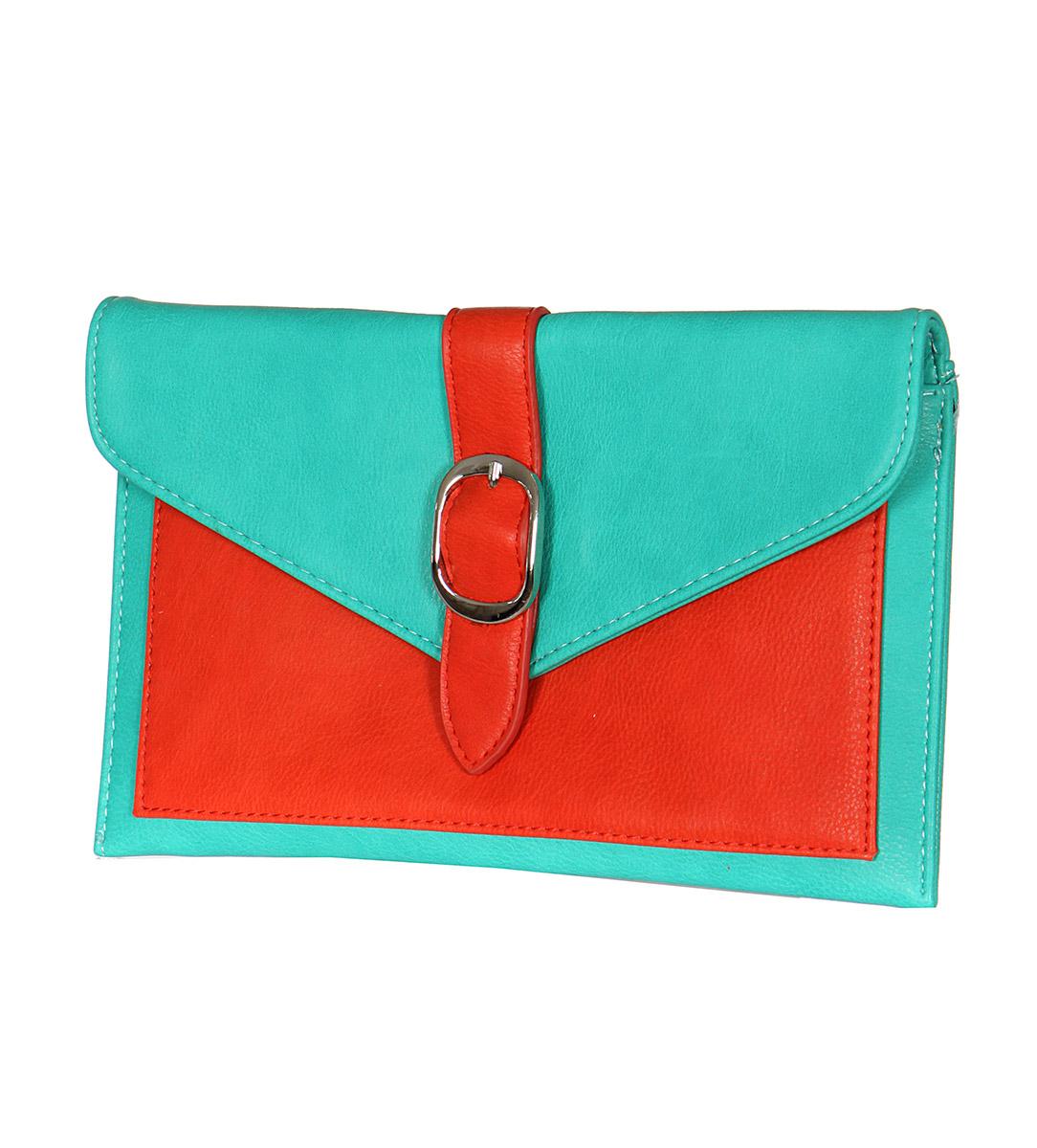 BELT BUCKLE clutch bag