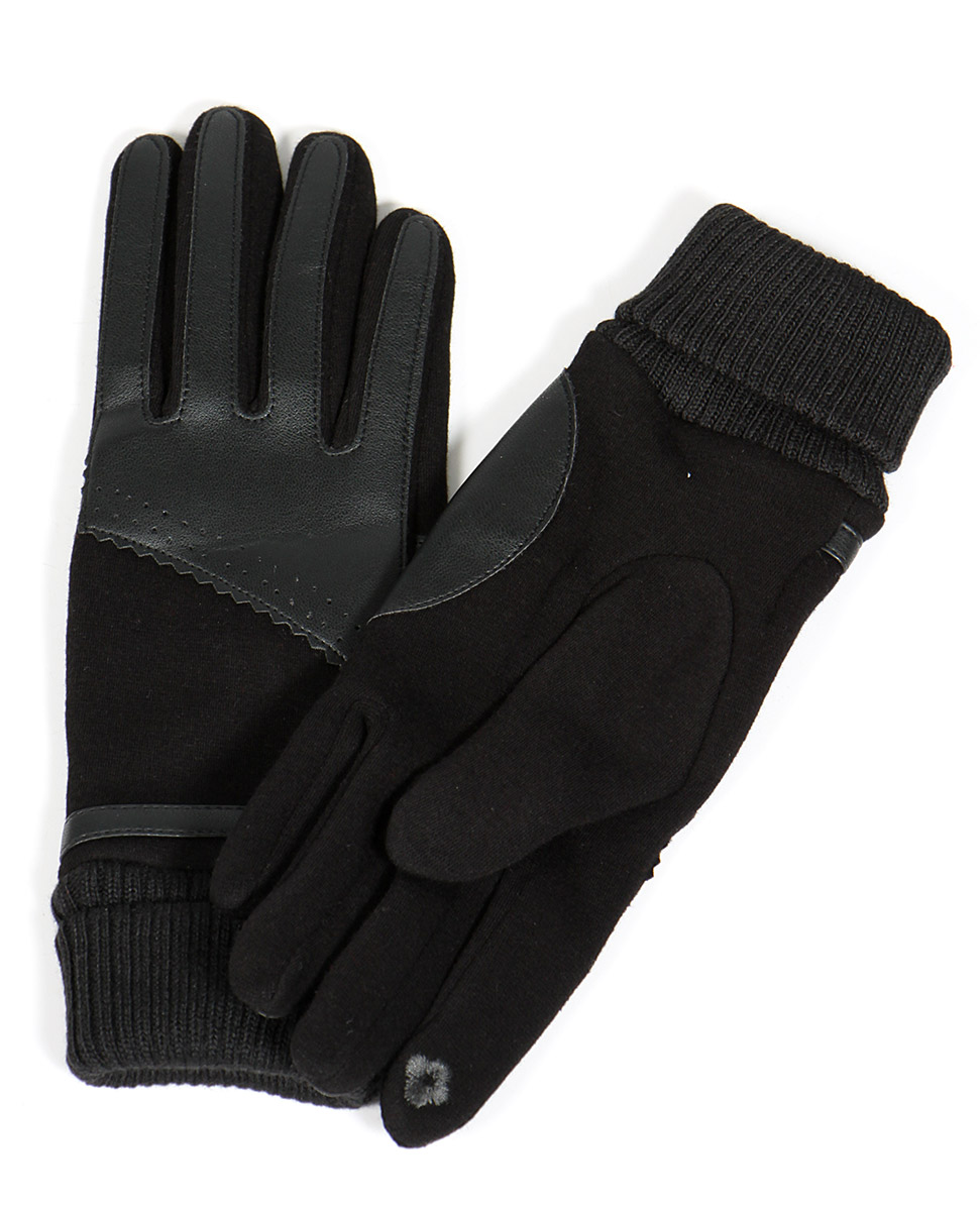 wholesale Q03 Faux LEATHER patchwork touch screen gloves