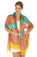 Wholesale Nature Print Shawls