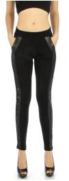 wholesale A09 Tuxedo stripe pocket liquid leggings S/M