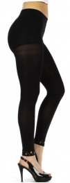 wholesale B25 See Through Leggings Heavy Metal Black