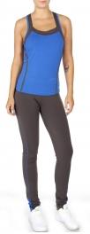 Wholesale N47 Two tone Cotton active tank pants set Blue