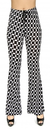 Wholesale A07 Bell bottom pants black and white
