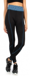 wholesale Marled waistband active pants Blue