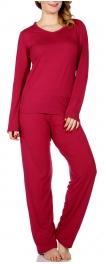 Wholesale E08A Solid pj top & pants set BTRD