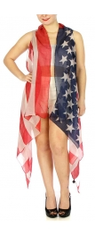 Wholesale H32A Patriotic American flag vest