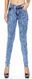 Wholesale E31 Cotton blend line detail denim pants