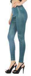 Wholesale I20 Foil leggings Teal fashionunic