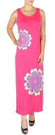wholesale N06 Metallic flower maxi dress BK fashionunic