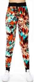 wholesale Q43 Brush strokes pocket velour jogger pants