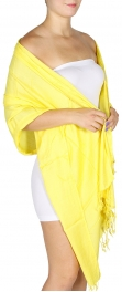 wholesale D09 Solid Pashmina Shawl Yellow fashionunic