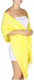 wholesale D09 Solid Pashmina Shawl Yellow fashionunic