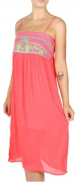 Wholesale H02A Embroidered top cotton dress Pink