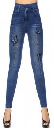 Wholesale R50A Denim print seamless leggings Blossom
