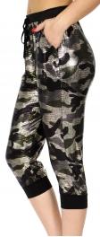 Wholesale E11A Jogger capri pants Metallic MUL