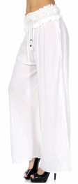 Wholesale S57A Crochet waist palazzo pants White