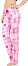 Wholesale E39E Plaid lounge pants Pink