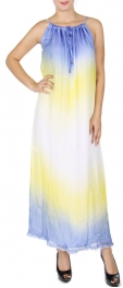 Wholesale Q12-1A Cotton blend maxi dress