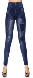 Wholesale R51A Denim print seamless leggings Patches
