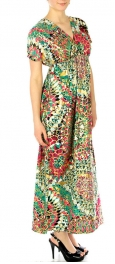 wholesale G32 Foiled kaleidoscope kimono dress Green