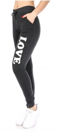 Wholesale B16B LOVE workout pants One Size Black
