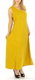 wholesale H02 Long dress enzyme wash Coral