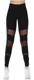 Wholesale A34 Fishnet cutout active leggings Black