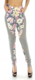 wholesale Cotton pattern panel leggings Floral NV/PK S/M