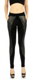 wholesale Q65 wave panel pocket liquid leggings S/M