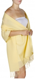 Wholesale D06 Solid pashmina Yellow