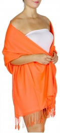 wholesale D12 Neon silky solid pashmina 803 Coral