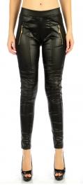 wholesale B09 Panel zipper pocket liquid leggings BK S/M