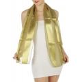 wholesale J37 3 pcs Oblong Solid satin scarves Olive