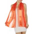 wholesale J37 3 pcs Oblong Solid satin scarves Coral