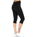 Wholesale WA00 Meshed neon sides capri pants Black