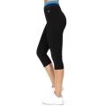 Wholesale WA00 Neon meshed waist capri pants N.Blue