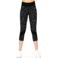 Wholesale J17E Pattern printed panel capri leggings Grey Bottom