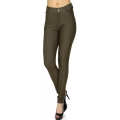 Wholesale F10 Solid color leggings pants Army Green