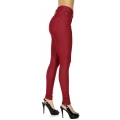 Wholesale F10 Solid color leggings pants Bugundy