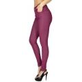 Wholesale F10 Solid color leggings pants Plum