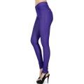 Wholesale F10 Solid color leggings pants Royal Purple