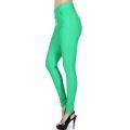 Wholesale F10 Solid color leggings pants Green