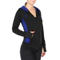 Wholesale G05A Hoodie with thumb holes Black/R.Blue