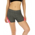 wholesale K25 Colorblock fitted yoga shorts Pink