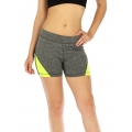 wholesale K25 Colorblock fitted yoga shorts Lime