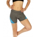 wholesale K25 Colorblock fitted yoga shorts Turquoise