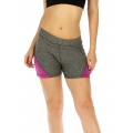 wholesale K25 Colorblock fitted yoga shorts Purple