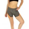 wholesale K25 Colorblock fitted yoga shorts Orange