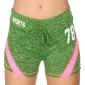 Wholesale E12A Workout shorts Green/Pink