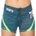 Wholesale E12A Workout shorts Blue/Lime